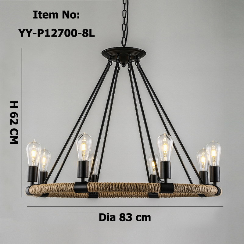Retro American Village Rope Chandelier Creative Past Rustic Country Style Restaurant Bar Restoration Hardware Lighting In Chandeliers From Lights