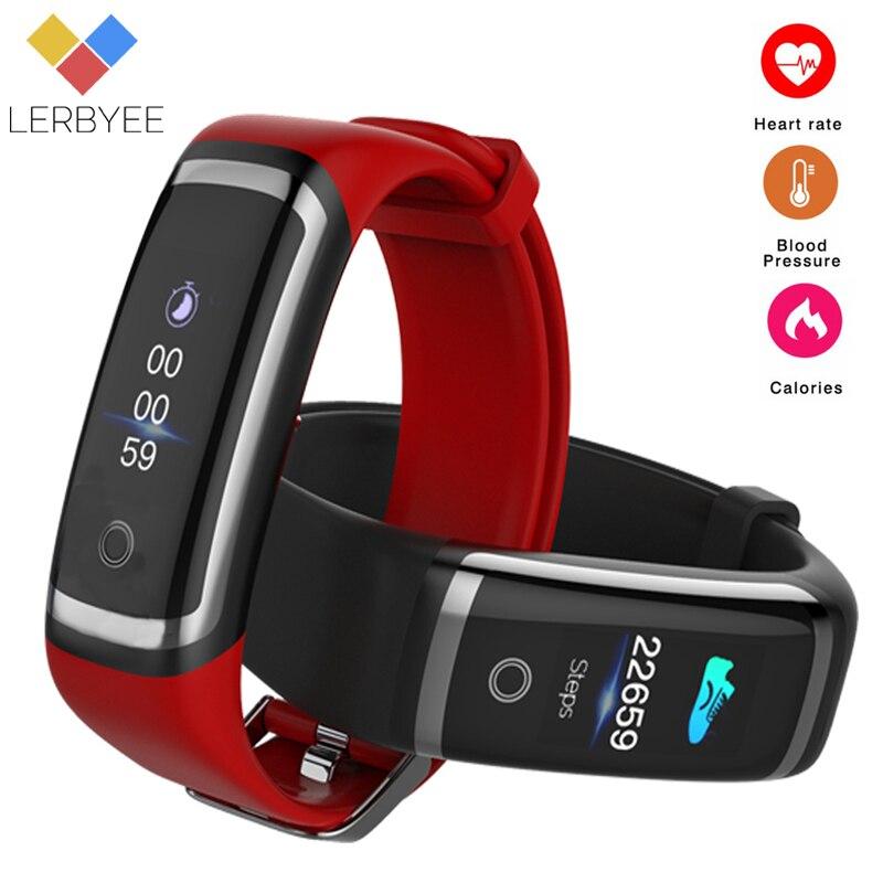 Lerbyee Fitness Tracker M4 Moniteur de Fréquence Cardiaque Étanche Smart Bracelet Bluetooth Appel Rappel Sport Bracelet pour iOS Android