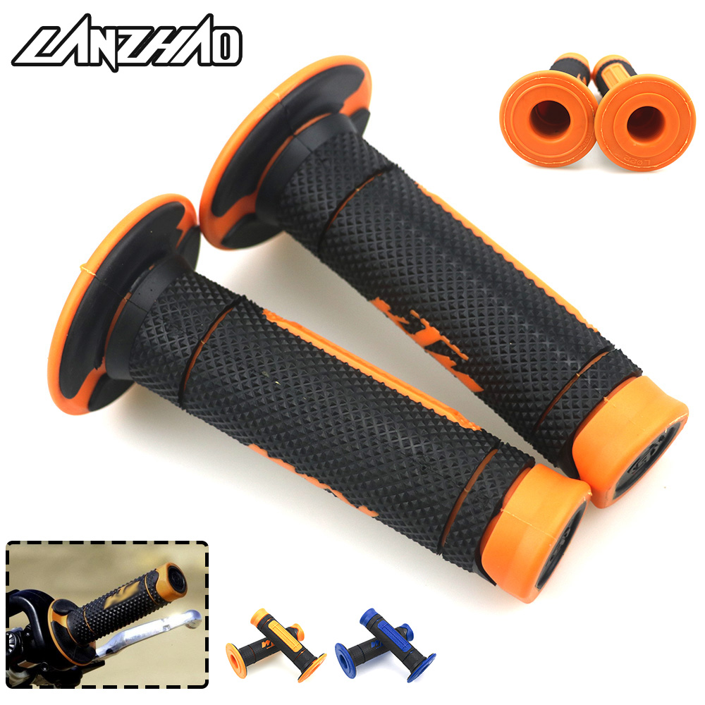 Orange 7/8 22mm Motorcycle Rubber Hand Grips Handle Gel for KTM Duke 125 200 250 390 EXC EXCF SX SXF XC XCF XCW 2004- 2017 2018 грипсы ethic rubber grips blue