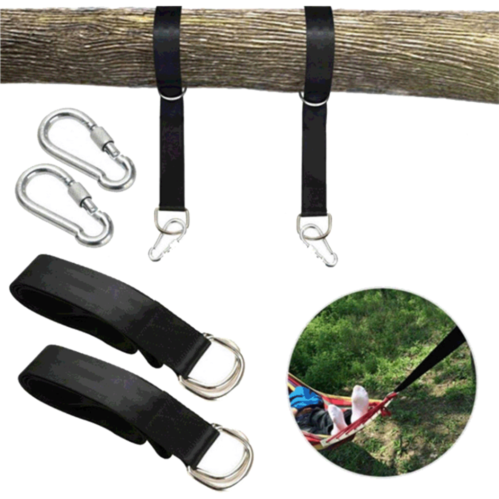 Swing Hanging Belt Hammock Straps Tree Large Load Capacity Camping Outdoor Hiking Kit Accessories Set