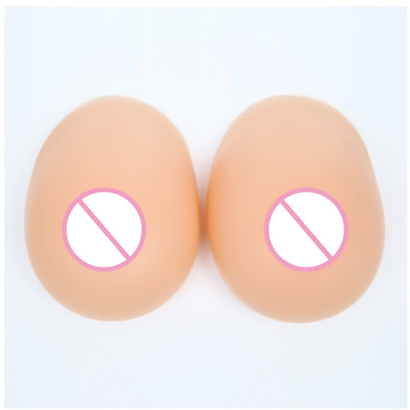 Shemale Breast Forms False Breast Fake Silicone Boobs Bust Chest 800g/pair For Men Crossdresser Drag Queen with 1 set protector