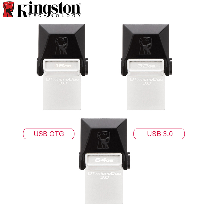 <font><b>Kingston</b></font> MINI USB-Stick 3,0 64 GB 32 GB 16 GB OTG Pem Stick Für Smartphones & Tablets MicroUSB flash Memory Stick 2in1 Stick image