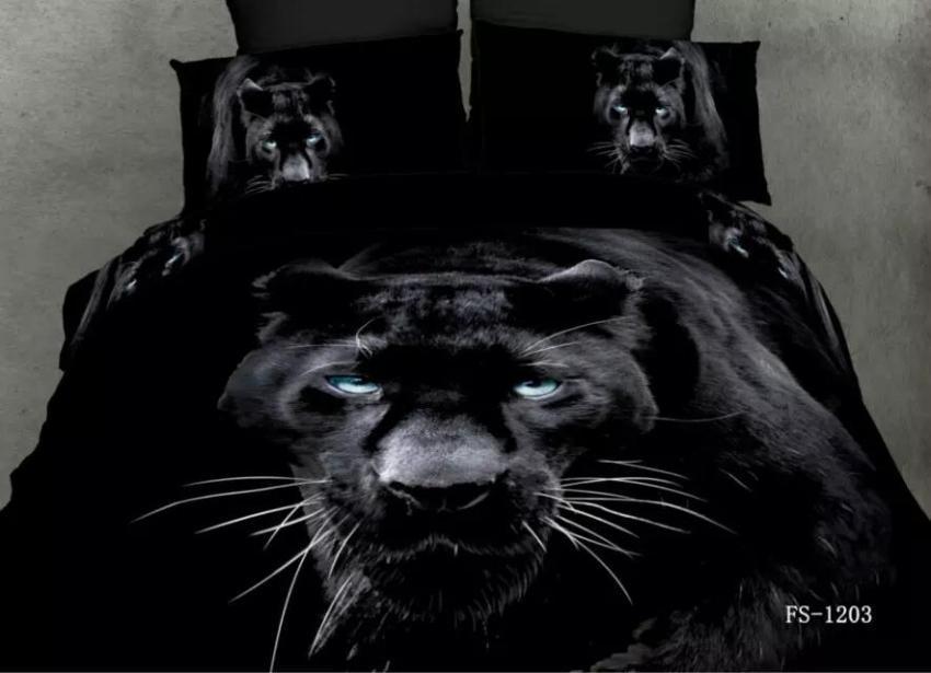 3d Black Panther Bedding Sets Queen Size Quilt Duvet Cover
