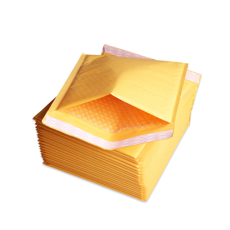 5pcs 110*130mm Kraft Paper Bubble Envelopes Bags Mailing Bags Self Adhesive Packaging Postcards Envelopes Toothbrush Bag Travel Spare No Cost At Any Cost