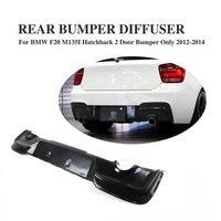 Frp preto difusor traseiro amortecedor lábio apto para bmw série 1 f20 m135i hatchback 2 amortecedor da porta 2012-2014