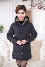 Coat wadded jacket female new womens winter cotton slim parkas ladies coat plus size XL-6XL 611