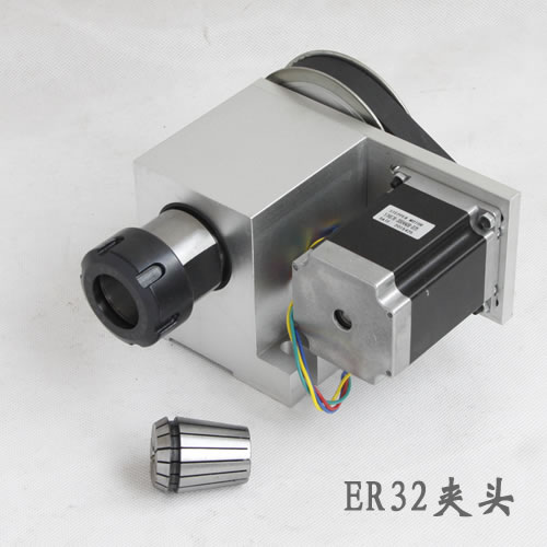 Engraving machine fourth axis A shaft rotating shaft CNC dividing head hollow shaft ER32 chuck 1set