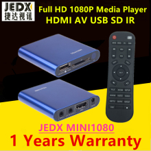 JEDX 1080P Mini font b Portable b font Full HD Media Player with AV HDMI USB
