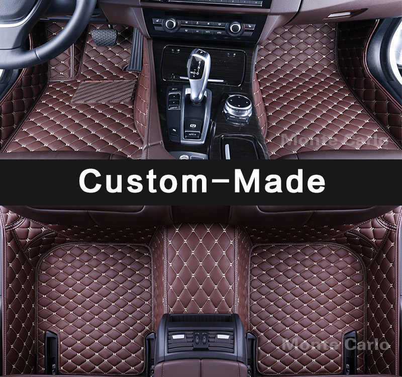 רצפת מחצלות רכב Custom made מיוחד לאינפיניטי G37 G35 G25 Q50 Q70 Q60 Q70L M25 M35 M35H M25L M37 M56 M37X M30D שטיח אניה