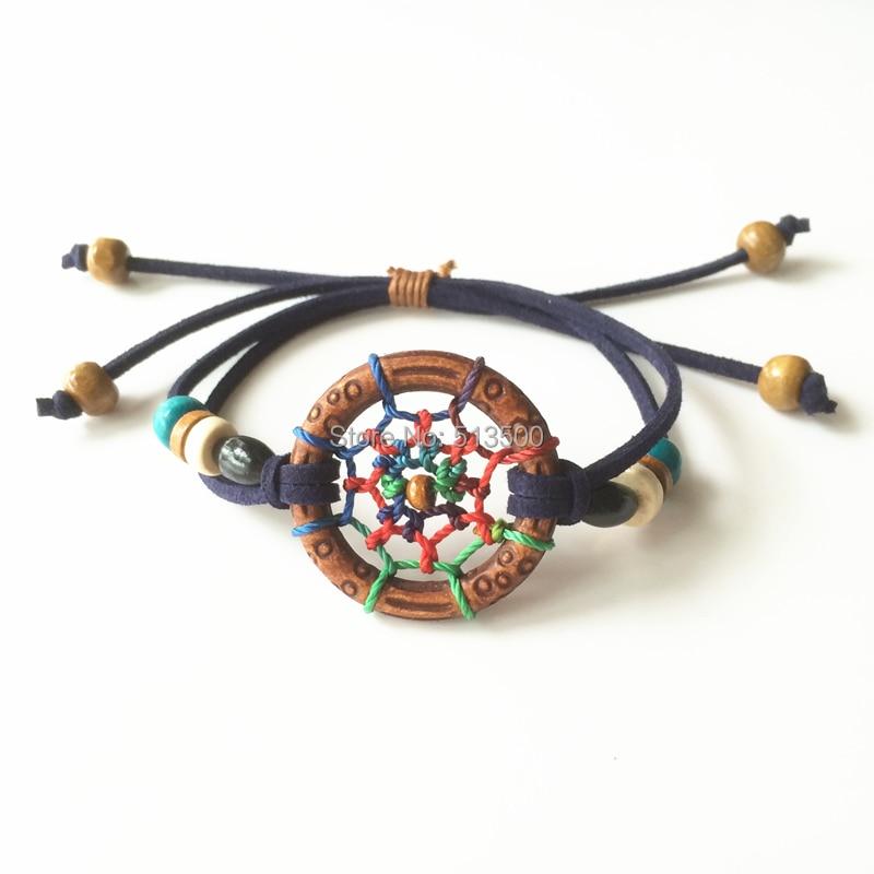 Dream Catcher Bracelet Handmade European Native American Free Style Handmade Bracelets Free Shipping