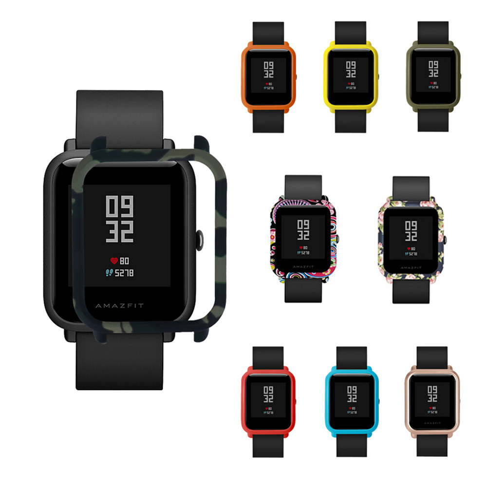 Watch Cases Slim Colorful  Frame PC Case Cover For Xiaomi Huami Amazfit Bip Strap BIT PACE Lite Youth Smart Watch Protect Shell