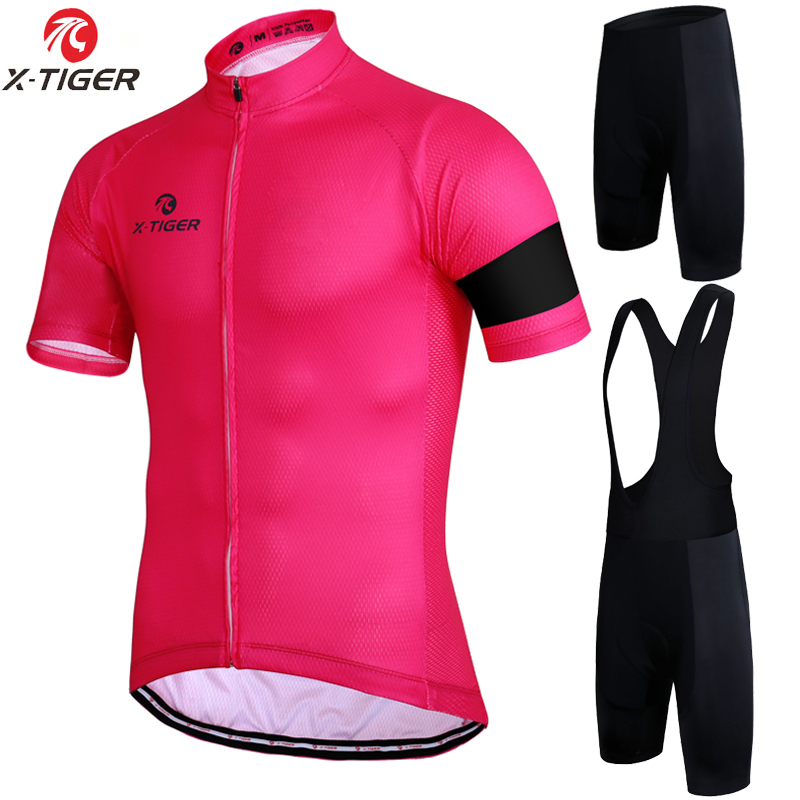 X-Tiger Pro Short Sleeve Cycling set Summer Mountain Bike Clothing Pro  Bicycle Jersey Man 31d57f727