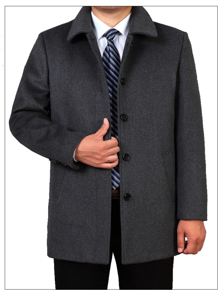 2019 Autumn Winter mens jackets and coats male outerwear plus size thick smart casual Fashion loose woolen coat for men AVBXCV 13