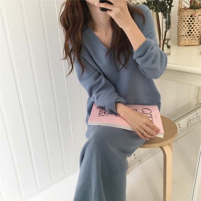 Fat mm Knitted Sweater 2018 New Autumn and Winter Dress Fat Sister Loose 200 Kinds Sweater