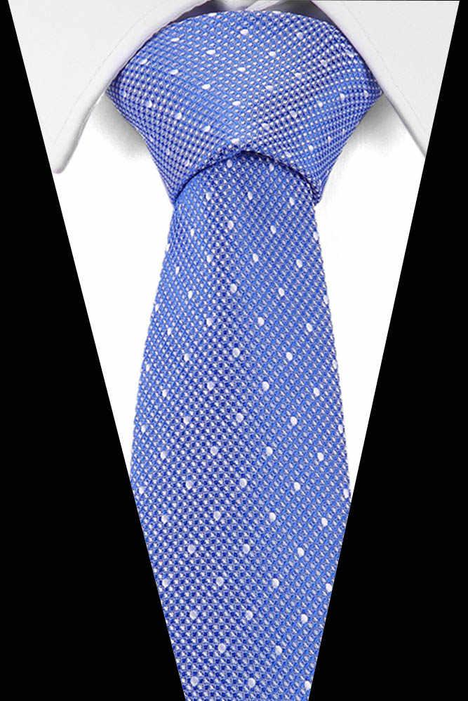 Corbata clásica de 7,5 cm de lujo para hombre, corbata de seda Jacquard tejida a cuadros a rayas, Corbata a rayas para hombre, corbata de negocios, accesorios