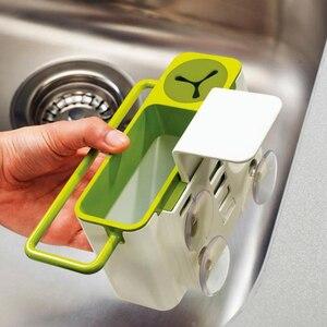 Image 3 - Полезная кухонная коробка для хранения губка держатель для слива мыла полка органайзер корзина инструменты для мытья кухонные аксессуары Organizador