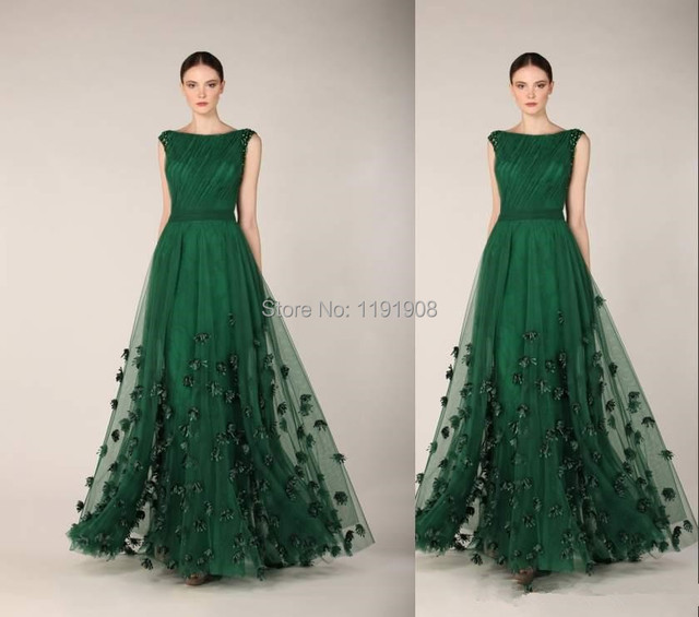 Vestidos de fiesta verde oscuro