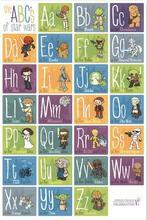 ABC Alphabet Chart Star Wars Kids Education English Language Art Wall Decor Silk Print Poster
