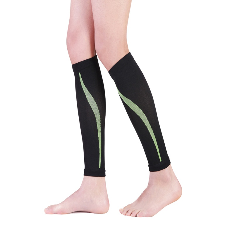 1 Pair Outdoor Exercise Calf Support Graduated Compression Leg Sleeve Sports Socks Leg Braces