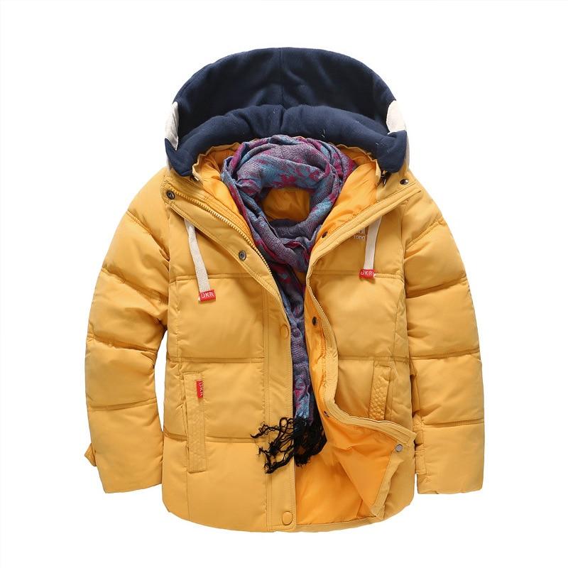 BibiCola Kids Cotton Down Jacket Coat Hooded Outerwear Baby Girls Winter Coat Children Outerwear Snowsuit Infants Jackets