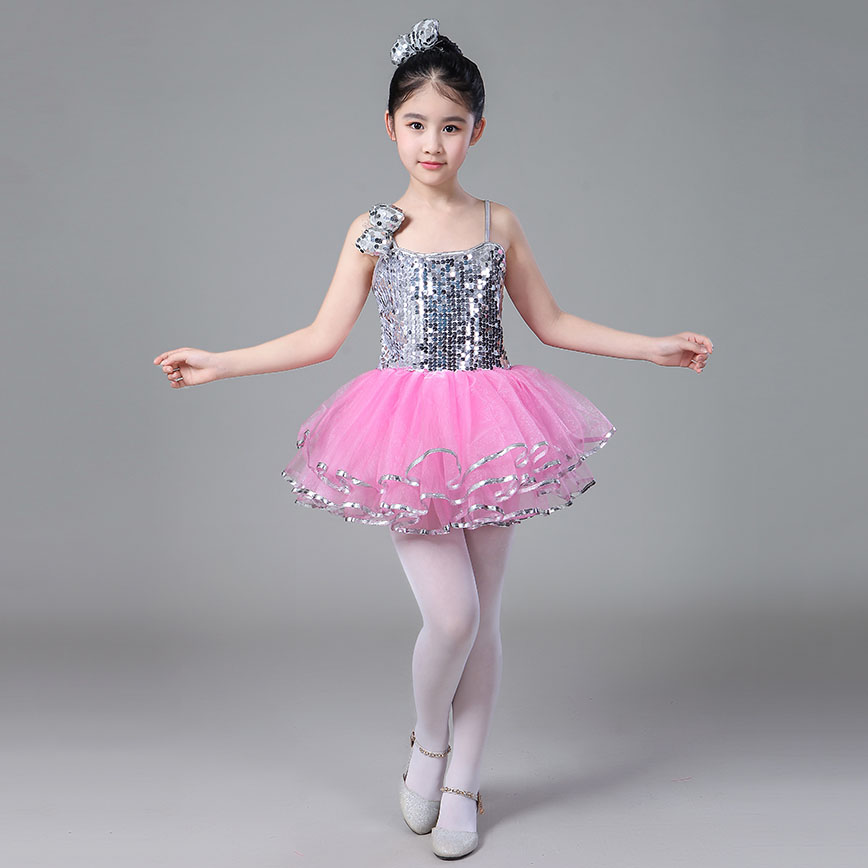 Fancy Tutu Costume Child Dance Outfit For Girls Cute Sequin Kids Ballerina Party Dress For Children 2 To 8 Years Meticulous Dyeing Processes
