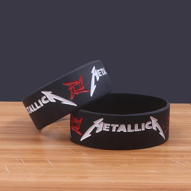 Wide Version Metallica Thrash Metal Band Silicone Bracelets Rock Silicon Wristband Por Jerwerly Trendy