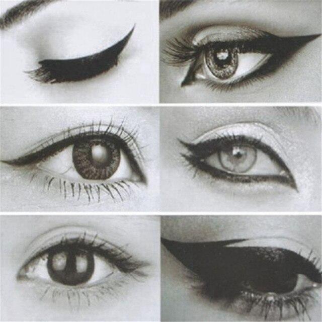2pcs Eyeliner Eye shadow Stencil 3 in 1 Cat Eyes Cosmetic Tool Card Cat Eyeliner Shape Template Model Tool Eye brow Makeup Tool 2