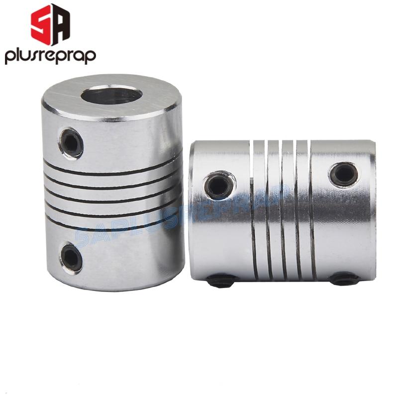 2pcs/lot Flexible Shaft Coupling 5mm To 8mm 5x8mm CNC Motor Jaw Shaft Coupler OD 19 X 25mm Wholesale 3D Printer Part