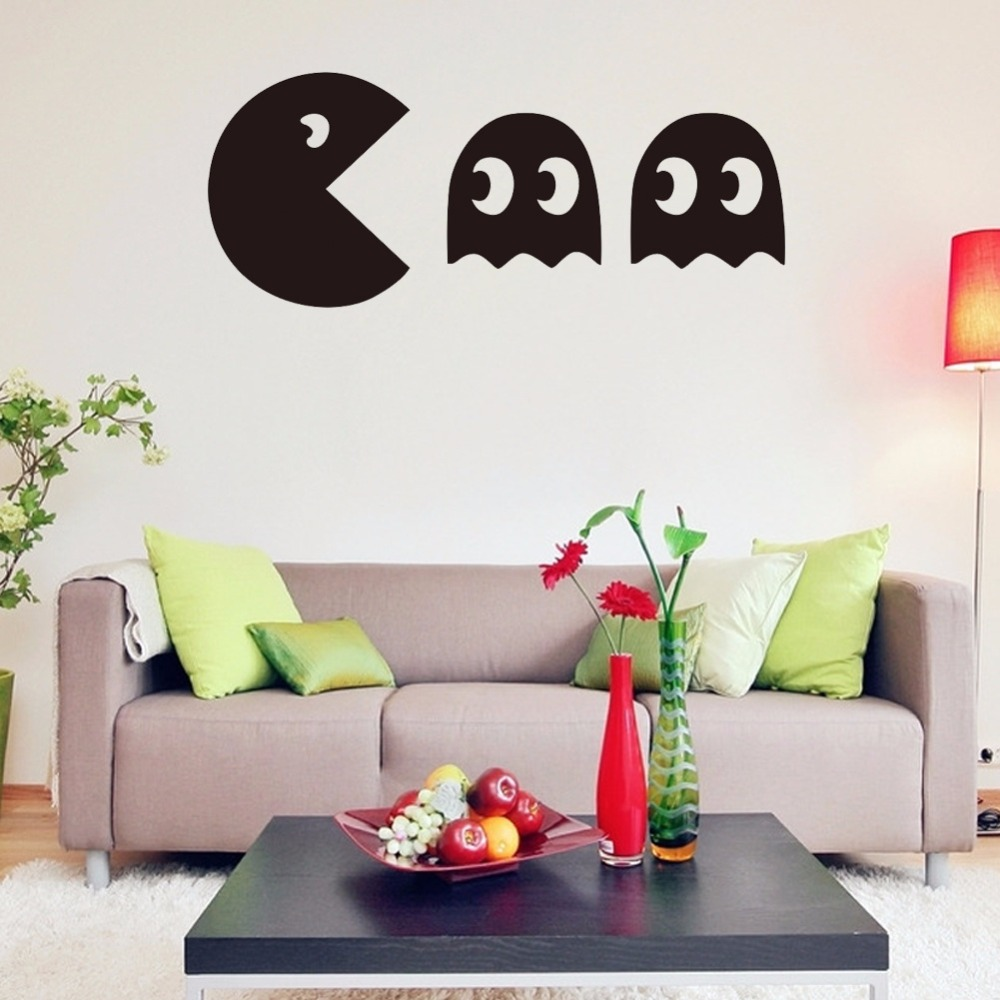 Pacman game vinyl wall decal home decor living room bedroom diy ...