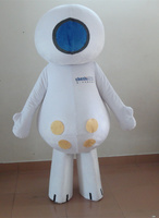 Hot sale 2014 Adult cartoon character happy white doll Mascot Costume fancy dress party costumes adult size