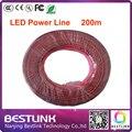 Led power line 200 м/roll светодиодные черный и красный кабель линии для подключения индикатор питания светодиодный модуль для светодиодная вывеска напольный панель видеостены