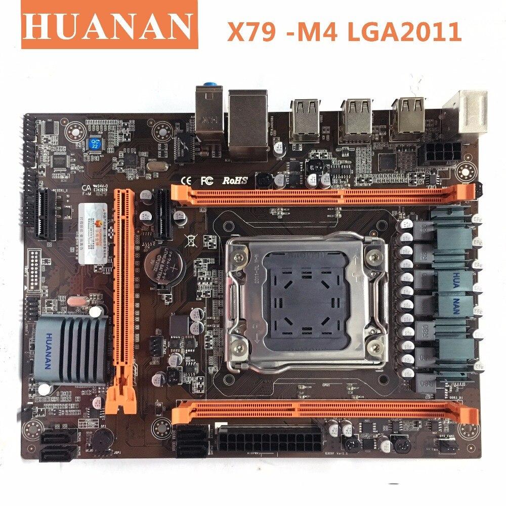 HUANAN X79-M4 LGA 2011 DDR3 PC Desktops Motherboards Computer Computer Motherboards Geeignet für server ECC ECC REG RAM