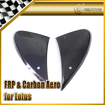 Car-styling For Lotus Elise Exige S2 Carbon Fiber Side Vent Glossy Fibre Finish Fender Exterior Racing Accessories Trim