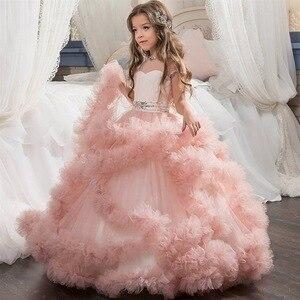 Image 2 - Mới Trẻ Em Trang Dạ hội sinh nhật costum bầu trẻ em dạ hội rước lễ lần đầu Đầm Dành cho bé gái