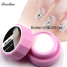 nail art semi and solid transparent camouflage jelly dense professional Pink White Clear Color nail uv builder extend nail gels