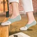 Hss marca summer nuevos calcetines calcetines de algodón de dibujos animados zorro caliente de silicona antideslizante calcetines boca baja calcetines invisibles meias femininas