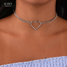 New fashion jewelry hollow heart choker necklace gift for women girl N2058