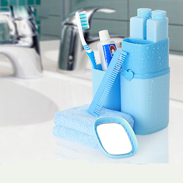 New Pcsset Travel Wash Kit Toothbrush Toothpaste Towel Portable - Business bathroom supplies
