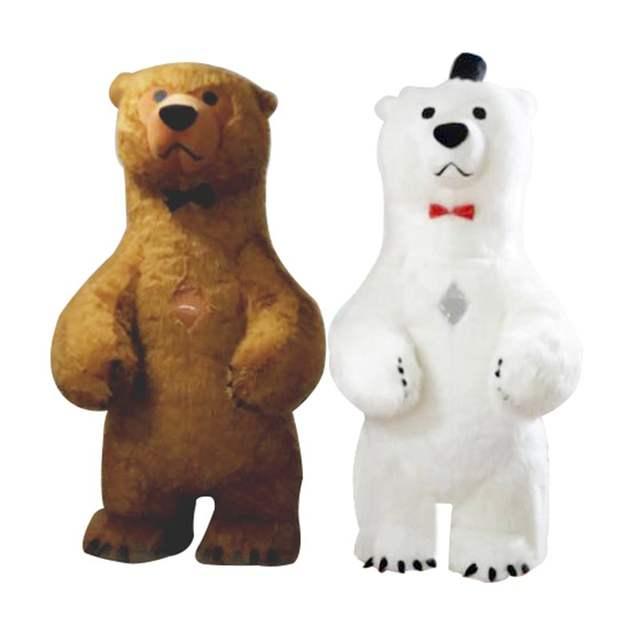 New Polar Bear Mascot Costume For Adult Inflatable Polar Bear