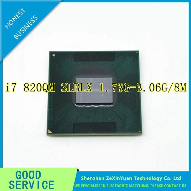 i7 820QM Processor 8M Cache 1 73GHz to 3 06Ghz i7 820QM SLBLX PGA988 TDP 45W