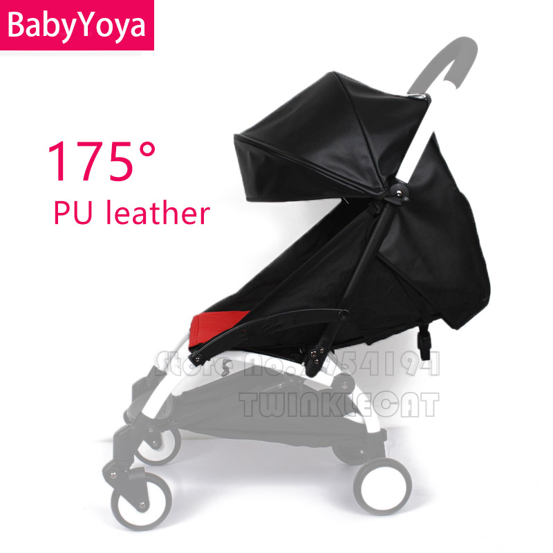 BABYYOYA 175 Degree Leather Or Flax Sun Cover And Seat Cushion Set Yoya Yoyo New Arrival Colorful Baby Stroller Accessories