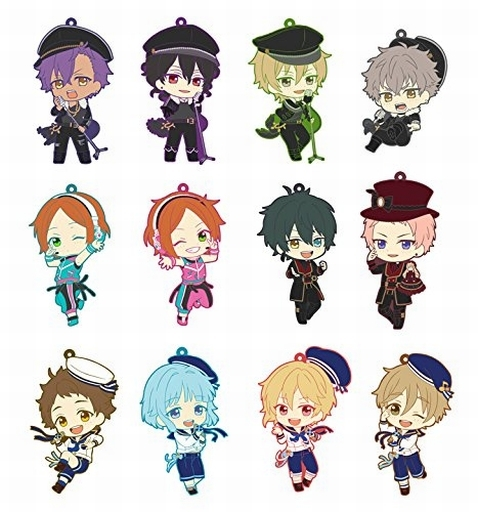 Ensemble Stars Anime Oogami Koga Otogari Adonis Aoi Yuta Valkyrie 2nd Ver Rubber Keychain ensemble stars anime idol high school game team trickstar bean eye ver japanese rubber keychain