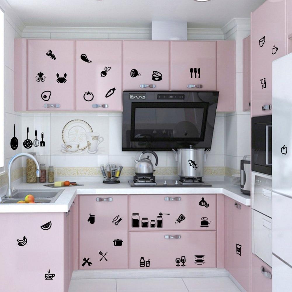 Abnehmbare Küche Dekoration Küche Werkzeuge Wandaufkleber Home Art ...