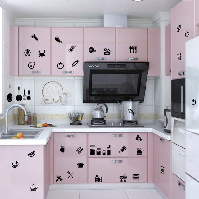 Diy Dining Room Art aliexpress : buy removable kitchen decoration kitchen tools