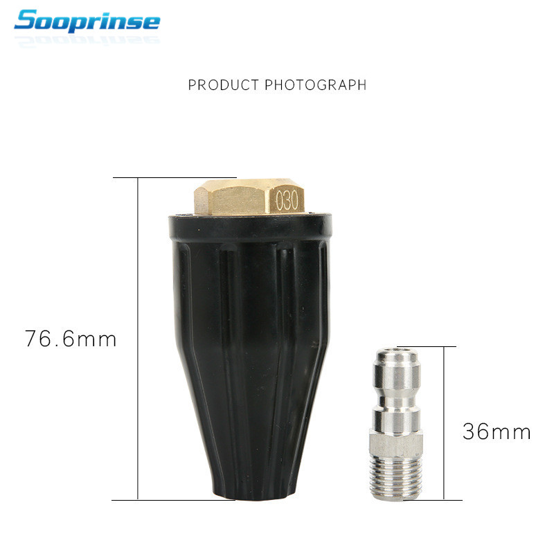Image 4 - Sooprinse Universal Pressure Washer Turbo Nozzle for High Pressure Outlet Fitting Rotary ,1/4 inch Quick Connect 3600PSI 2019New-in Water Gun & Snow Foam Lance from Automobiles & Motorcycles