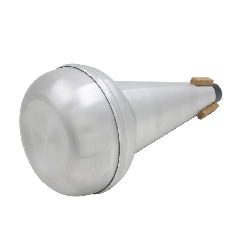NEW 1Pc High Quality Lightweight Practice Trombone Straight Mute Silencer Aluminium for Alto Tenor Trombone SilverNEW 1Pc High Quality Lightweight Practice Trombone Straight Mute Silencer Aluminium for Alto Tenor Trombone Silver
