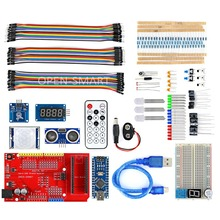 OPEN-SMART Nano BreadBoard Kit with IO Expansion Board CH340G Programmer Module Touch Sensor Learning Kit for Arduino