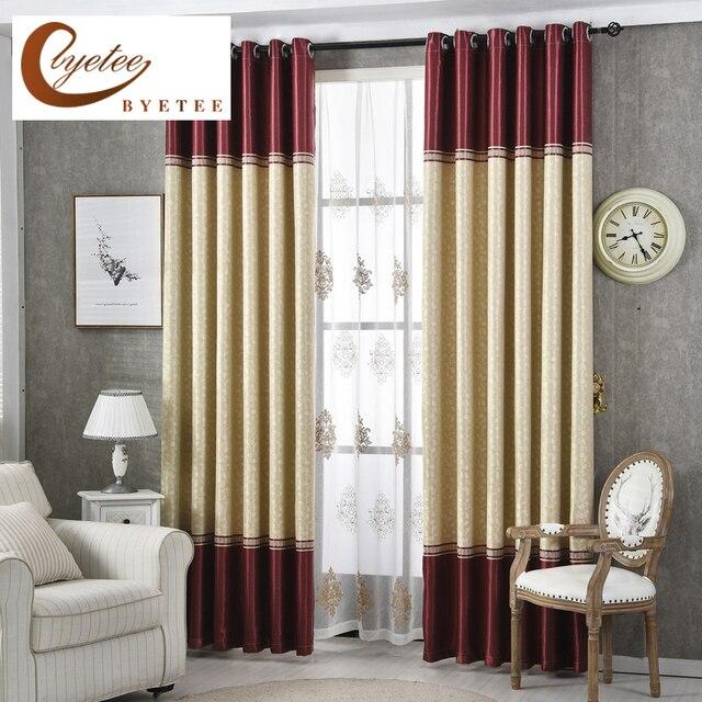 byetee moderne woonkamer luxe gordijnen gestreepte gordijnen deuren voor keuken slaapkamer verduisteringsgordijnen gordijn stoffen