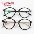 2016 Coréia Do projeto mulheres frame ótico mais popular retro rodada TR90 óculos preto de alta qualidade para senhora