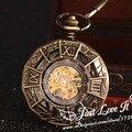 15pcs/lot ancient men women mechanical pocket watch nostalgic necklace fob watch hollow carve Rome patterns designs watch